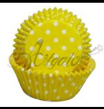 Caissettes Cupcakes - Taille Mini - Jaunes à Pois
