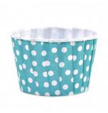 6 Caissettes Friandises (Nut Cups) | Turquoise à pois