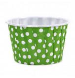 6 Caissettes Friandises (Nut Cups) | Vert Vif à pois