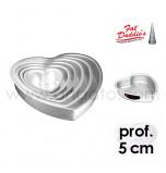 Moules à Gâteau Fat Daddio's® Coeurs - Prof. 5 cm