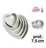 Moules à Gâteau Fat Daddio's® Coeurs - Prof. 7,5 cm