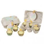 Meri Meri® Pâques | Boîtes pour 6 mini Cupcakes façon Boîte à œufs