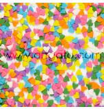 Confetti en Sucre - Coeurs Multicolores