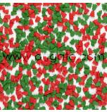 Confetti en Sucre - Sapins Rouges et Verts