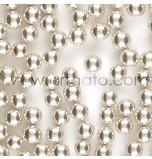 Perles en Sucre - Argent - 8,5mm