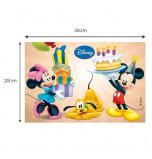 Plaque Azyme - Mickey, Minnie & Pluto
