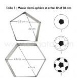 DECOUPOIRS MODELAGE | Ballon de Football (Hexagone et Pentagone) pour Moule 15 cm - en Fer Blanc