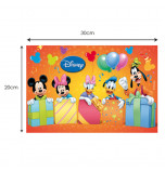 Plaque Azyme - Mickey, Minnie, Daisy, Donald & Dingo