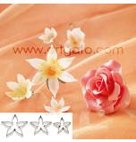 DECOUPOIRS FLEURS | Rose - Calice de Rose - Grande Taille, Jeu de 3 Tailles - en Fer Blanc