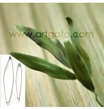 DECOUPOIRS FLEURS | Feuille de Lys / Feuille allongée, Jeu de 2 Tailles - en Fer Blanc