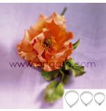 DECOUPOIRS FLEURS | Rose - Pétale de Rose - Grande Taille, Jeu de 3 Tailles - en Fer Blanc