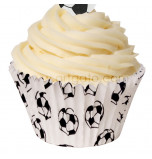 120 Caissettes Cupcakes – Taille Standard | Football