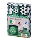 Caissettes et décors cupcakes - Football