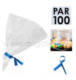 Liens Métal Bleu, Sachet de 100 Liens