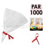 Liens Métal Rouges, Sachet de 1 000  Liens