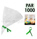 Liens Métal Verts, Sachet de 1 000 Liens