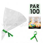 Liens Métal Verts, Sachet de 100  Liens