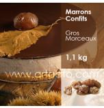 Marrons Confits au Sirop Agrimontana, Gros Morceaux