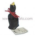 Cheminée pour Tourtes et Pâtés en croûte | Oiseau en Porcelaine - Noir