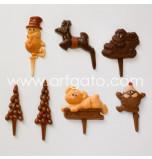 Chocopiques Noël - 15 Plaques Assorties, 5 Motifs