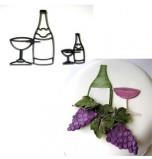 Patchwork Cutters® | Bouteille et Coupe de Champagne