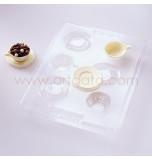 Moule chocolat - Mini Tasses et Soucoupes 3D