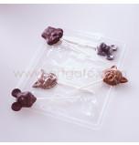 Moule Sucettes Chocolat - Animaux