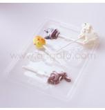 Moule Sucettes Chocolat - Assortiment Pâques
