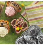 Moule à Gâteau Nordicware® | 5 Têtes d'Animaux à Garnir
