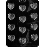 Moule à Chocolat, Coeurs Rayés