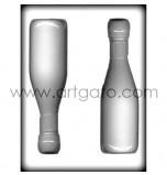 Moule Sucre Cuit, Bouteille de Champagne 3D