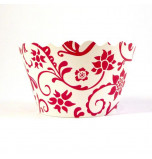 12 Tours de Cupcake Bella Cupcake Couture®, Taille Standard - Hannah Rouge / Blanc