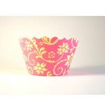 12 Tours de Cupcake Bella Cupcake Couture®, Taille Standard - Hannah Jaune / Rose Vif