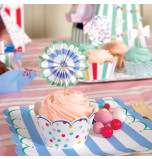 24 Tours de Cupcake Pois et à Rayures