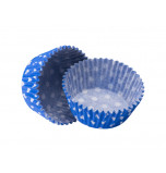 Caissettes Cupcakes – Taille Standard | Bleu Roi à pois blancs
