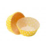 Caissettes Cupcakes – Taille Standard | Jaunes à pois blancs