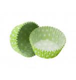 600 Caissettes Cupcakes | Taille Standard - Vert Vif à Pois
