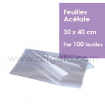 100 Feuilles Acétate (Rhodoïd) | 30 x 40 cm