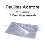 Feuilles Acétate - 2 formats et 3 conditionnements