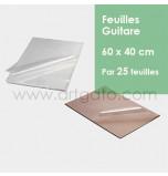 25 Feuilles Guitare | 60 x 40 cm