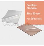 25 Feuilles Guitare | 30 x 40 cm