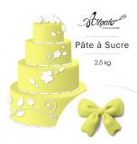 Pâte à sucre | Jaune Citron - 2,5 kg