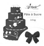 Pâte à sucre | Noire - 2,5 kg