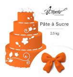 Pâte à sucre | Orange - 2,5 kg