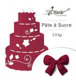 Pâte à sucre - Parme Bordeaux - 2,5 kg