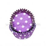 Caissettes Mini Violettes à Pois
