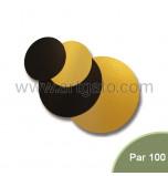 Semelles Pâtissières double-face Or/Noir | Rondes - par 100