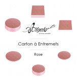 Cartons à entremets - Rose