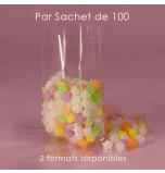 100 Sachets Cellophane à Soufflets