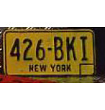 Plaque Voiture New-York